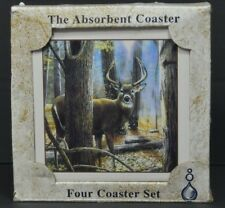 Buck Deer Hunting Autumn Absorbastone The Absorbent Coaster 4 Coaster Set
