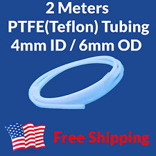 2M Teflon PTFE Tube Tubing 4mm ID 6mm OD 4x6 Bowden Makerbot Filament Guide USA
