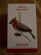 Hallmark Ornament Cedar Waxwing The Beauty of Birds 2013 9th in Series