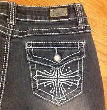 EARL Cross Women s Denim Blue Jeans size 6P  #2
