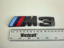 BMW M3 fibre de carbone effet badge