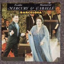 """FREDDIE MERCURY - Barcelona 7"""" VINYL. QUEEN, Montserrat Caballe. 1987 release"""