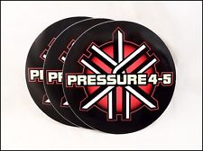 """Pressure 4-5 """"Burning The Process"""" 2001 Record Company Promo Stickers Lot Of 3"""