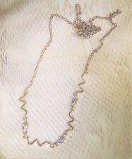 Women's Necklace Chain Pendant Silver Tone Zig Zag Center Lot R