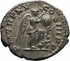 SEPTIMIUS SEVERUS 207AD Silver Ancient Roman Coin  Victory Cult  i46320