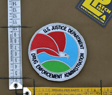 """Ricamata / Embroidered Patch DEA """"US Justice Dept."""" with VELCRO® brand hook"""