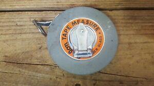 Vintage Eslom Round Imperial Tape Measure, 33 Ft