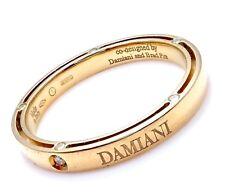 New! Authentic Damiani Brad Pitt 18k Yellow Gold Diamond 3mm Band Ring Sz 10.5