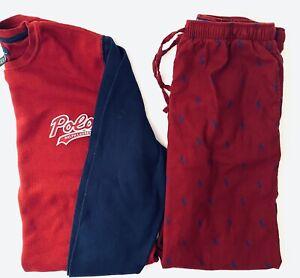POLO RALPH LAUREN Men's Polo Pajama 2-Piece Set Large EUC