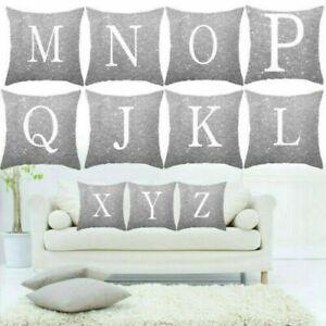 45.7cm A-Z Buchstaben Quadratisch Überwurf Kissenbezug Zuhause Sofa Bett Dekor .