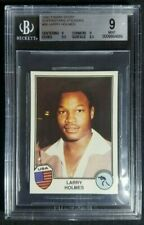 1981-1982 Panini Sport Superstars Larry Holmes Rookie Sticker RC BGS 9 Mint HOF