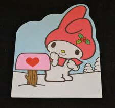 Vtg 1976 SANRIO 3-D Greeting Card MY MELODY Christmas Japan Hearts Blue Bird