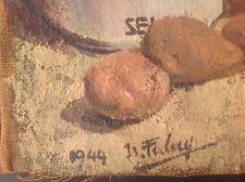 Isabelle FERLAY (Lyon 1917) Les ARGONAUTES Nature morte Huile signée c 1944