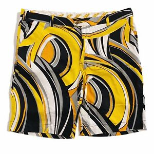 Loudmouth Golf Psychedelic Yellow Mens Shorts 42 105cm