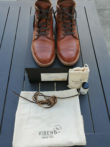 Viberg x Division Road 2030 Service Boots - Horween Natural Dublin - Size 9