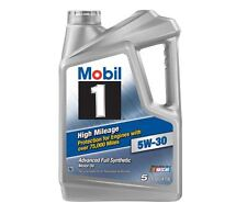 Mobil 1 5W-30 High Mileage Advanced Full Synthetic Motor Oil Engine 5 Quart NEW
