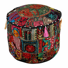 Indian Vintage Ottoman Pouffe Cover Ottoman Living Room Poofs Cover