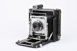 EXC++ CROWN GRAPHIC 4x5 CAMERA w/CLA'D SHUTTER, OPTAR 135mm F4.7 LENS, 120 BACK