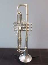 Pre-War 1930's Silver-Plated French Besson Brevete Trumpet - Ser. #94951