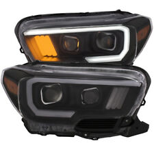 Anzo 111377 Projector Headlight Set Plank Style For 2016-2019 Toyota Tacoma