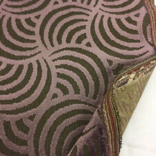 """Plum """"Whirl"""" Chenille/Velvet Swirls Design Heavy Upholstery Fabric. By NEXT"""