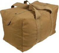COYOTE BROWN Heavy Duty Cotton Canvas Parachute Cargo Tote Travel Bag 3123 #2