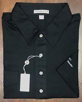NEW Men's Peter Millar Black Embroidered Member Logo Golf Polo Shirt Size L