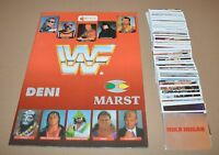 1992 MERLIN WWF Empty Album + Full Complete Set 300 Stickers Hulk Hogan