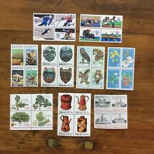9 MNH 15 cent attached setenant sets US postage stamps