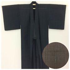 Japanese men's kimono, for summer, medium, short, blue, Japan import (AA2586)