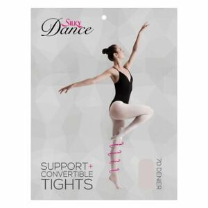Silky Support Convertible Dance Ballet Tights Adult sizes Theatrical Pink