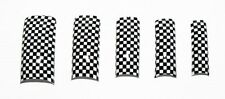Pre Designed Tip Black with White Checkers - Australian Seller