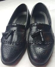 Dexter Black Leather Loafers Kilted Tassle Brogue Wingtip Shoes Men's 91/2 M USA