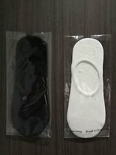 4 pairs quality mint scented ankle socks in black/white non-slip heel low cut