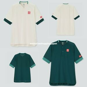 Uniqlo Roger Federer RF Dry-Ex Polo Shirt Qatar Open Tennis Game Shirt 2021 New