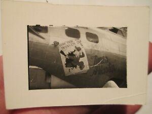 "*PHOTO* B-17 Flying Fortress ""Times A Wastin"" nose art MIA 91st BG ~ Original"