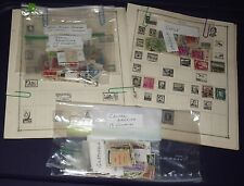 Lot Loose & On Catalog Pages South America Postage Stamps From 23 Countries