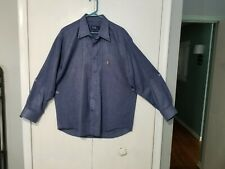 Polo By Ralph Lauren 100% Cotton  Size XL Blue LS Shirt