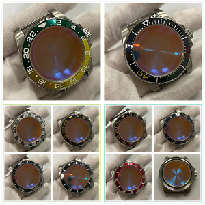 40mm Watch Case Sapphire Glass Watch Accessories For NH35/NH36 Movement Set