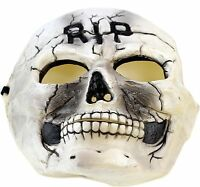 Halloween Mask Boys Rubber Skeleton CosPlay RIP Scary Rotted Costume Theater