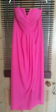 womens NewLook Bandeau pink maxi dress beach holiday races 12