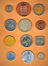 World Coins 12 'Exotics'w/Bailiwick of Jersey,Sri-Lanka,Egypt bimetallic,Cyprus+