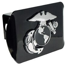 Marines Insignia Black Trailer Hitch Cover High Quality Made in USA (NEW)