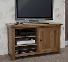 Tilson solid rustic oak living room furniture television cabinet stand unit