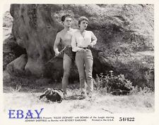 Johnny Sheffield barechessted VINTAGE Photo Beverly Garland Killer Leopard