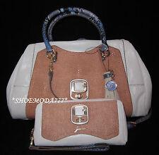 GUESS Azadeh Satchel Bag Purse Handbag Zip Around Wallet Wristlet Set Tassel New
