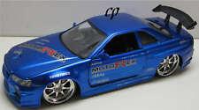 JADA DUB CITY 2002 NISSAN SKYLINE GT R R34 1:24 BLUE PASSENGER CARS GTR R34