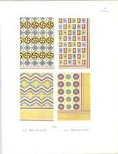 Tebe 1500 al 1375 A.C. vecchia decorazione a colori