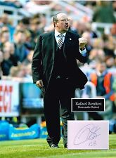 Rafa BENITEZ SIGNED Autograph 16x12 Photo Dry Mount AFTAL COA Newcastle United