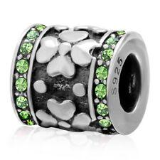S5149 Sterling Silver Lucky Clover Barrel Bead for European Charm Bracelet